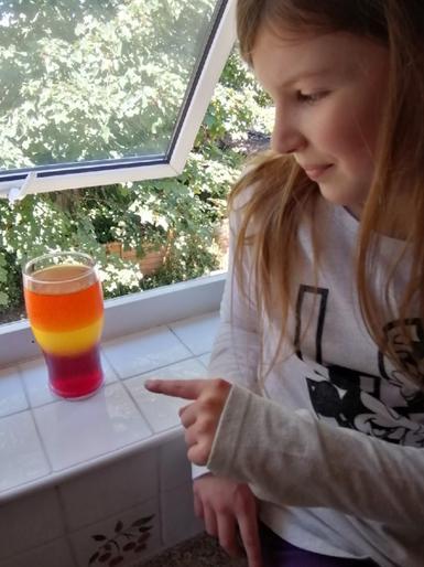 Emily enjoyed her jelly experiment!