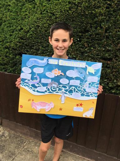 Janus and his super sea poster!