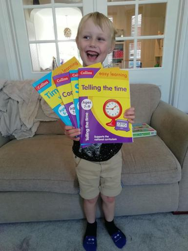 Tom's been busy with his workbooks!