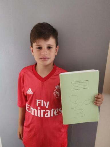 Oskar's completed book 3!!!!