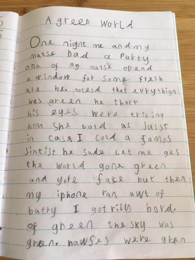 Max's AMAZING colour story - brilliant writing!