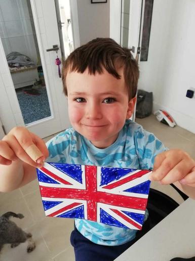 Noah's superb Union Jack