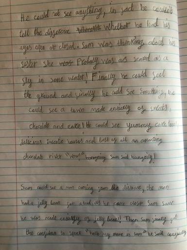 Evie's super writing!