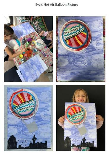 Eva and her amazing hot air balloon picture!