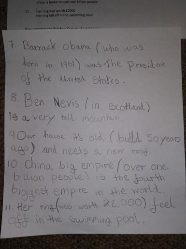 Oskar's super English work