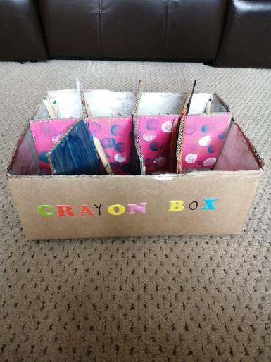 Isla's crayon box