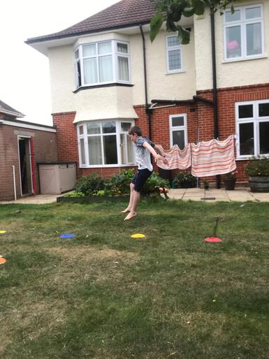 Finley's long jump!