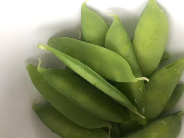 Fran has been growing peas! Yummy!