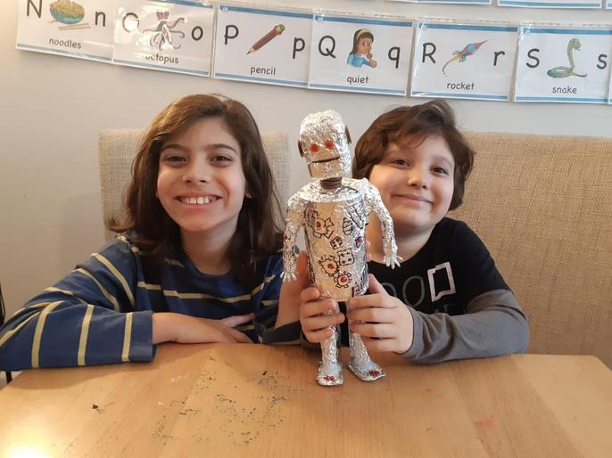 Bernardo and Lucas made an Iron Man!