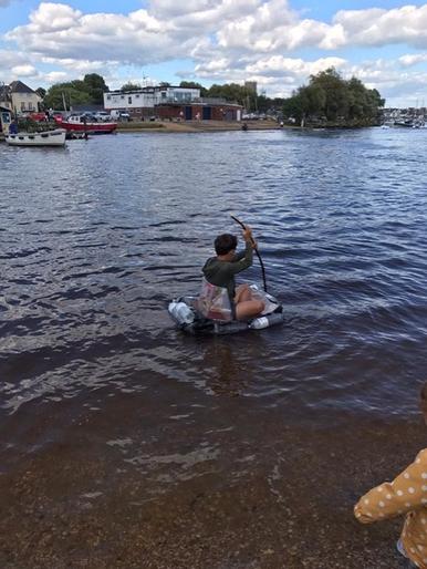 Fillipo on his raft