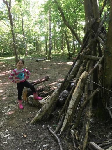 Mollie having fun in the forest
