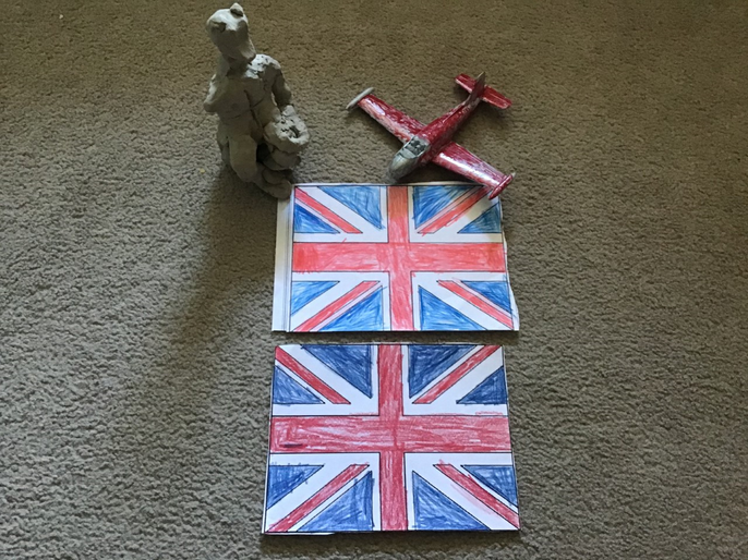 Filippo's RAF plane - VE Day activities