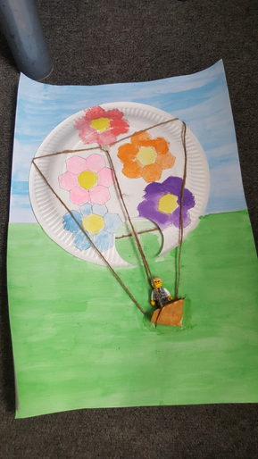 Caitlin's flower power hot air balloon