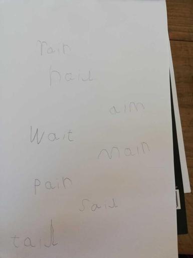 Noah's super phonics learning!