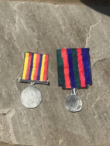 Albert's VE Day medals