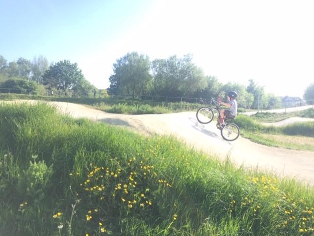 Dylan having loads of fun riding his bike!