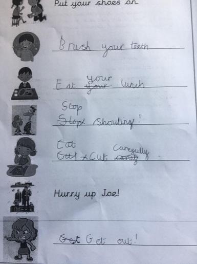 Josi's super command sentences