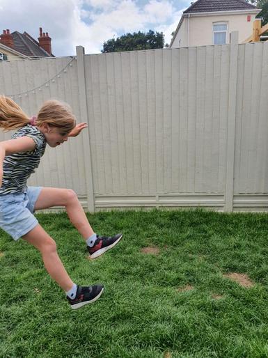 Eliza's super long jump!
