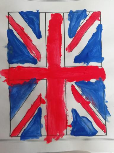 Tom's brilliant Union Jack painting for VE Day