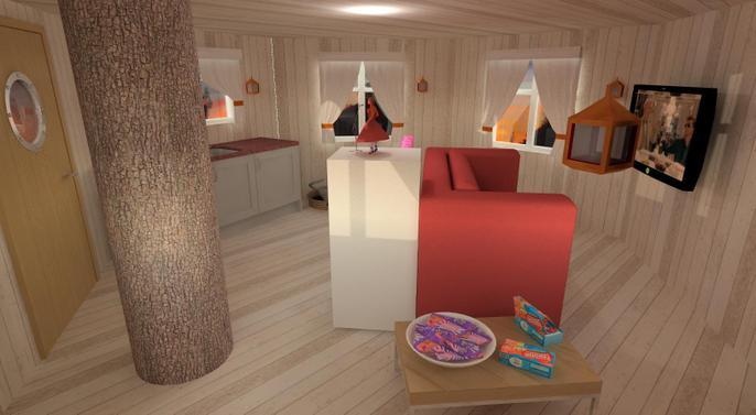 Jana's tree house design - the inside