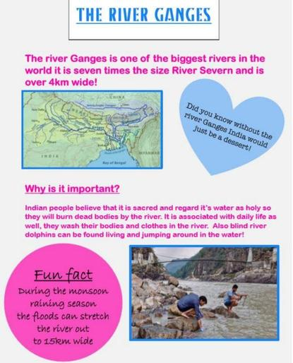Maisy's super River Ganges poster!