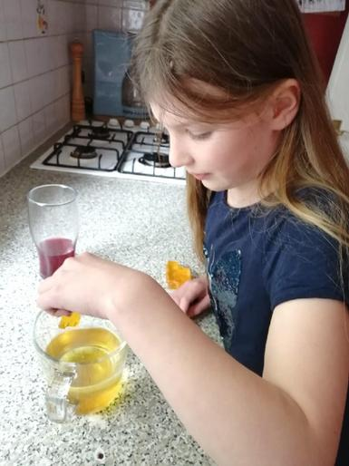 Emily being a super scientist!