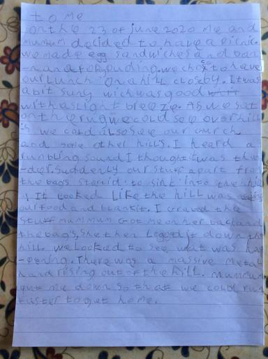 Mollie's AMAZING diary entry