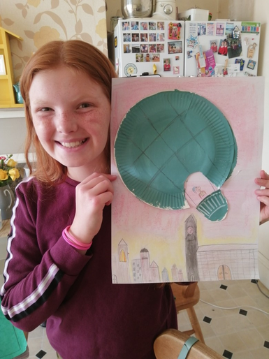 Lyra's fantastic hot air balloon picture
