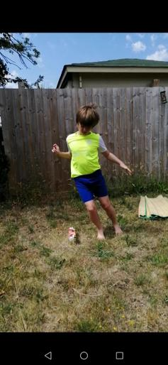 Leo doing a super speed bounce!