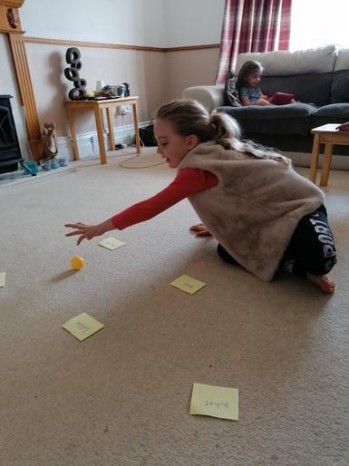 Phoebe being a tricky word master!
