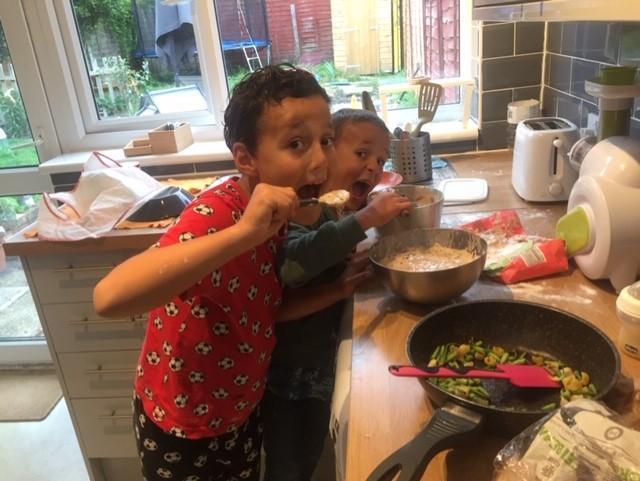 Filippo and Giosue with their magic recipe