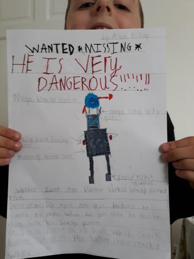 Albie's fantastic WANTED poster