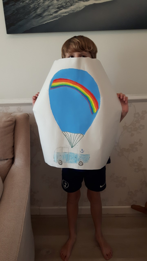 Jack's campervan themed hot air balloon design