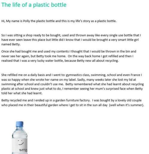 Maisy's super plastic bottle story!