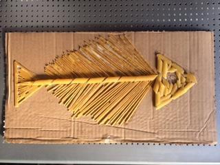 Emma's brilliant pasta fossil fish!