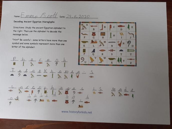 Emma's hieroglyphics