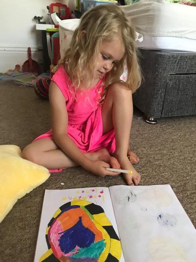 Pearl designed her own planet called Loveadene!