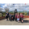 Pupils from both schools join together to remember