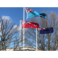 The flags. Including the New Zealand flag.