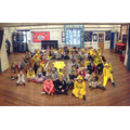 The whole school with the Penny Pudsey!