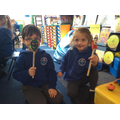 Retelling the story with our wooden spoon puppets