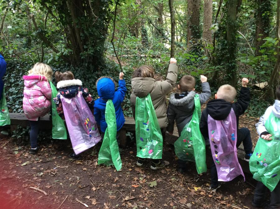 Forest fun in our Supertato capes