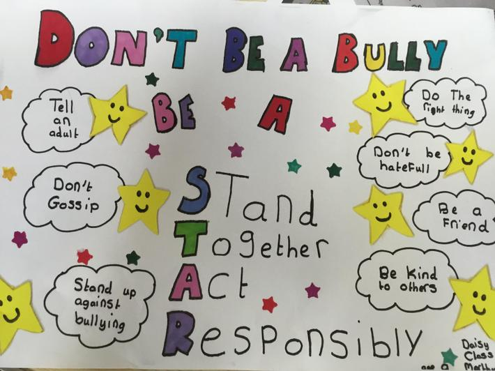 The winning anti-bullying poster