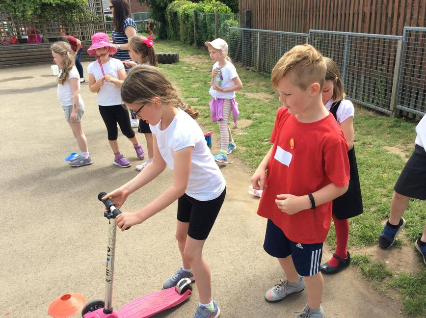 The scooter race went down a treat!