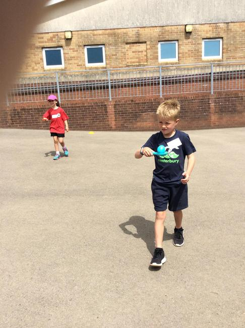 Egg and spoon relay race