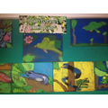 Rainforest chalk drawings