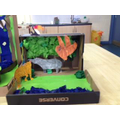 Diorama- 3D model of the Rainforest