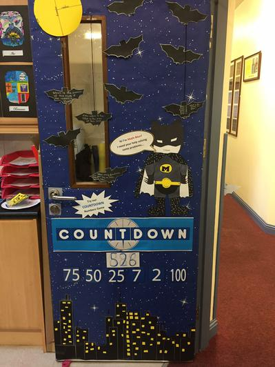 Our winning 'Design a Maths Door' entry!