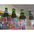 Hallowe'en Witches and tissue paper rockets