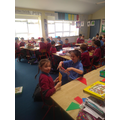We buddied up with 4th class for games